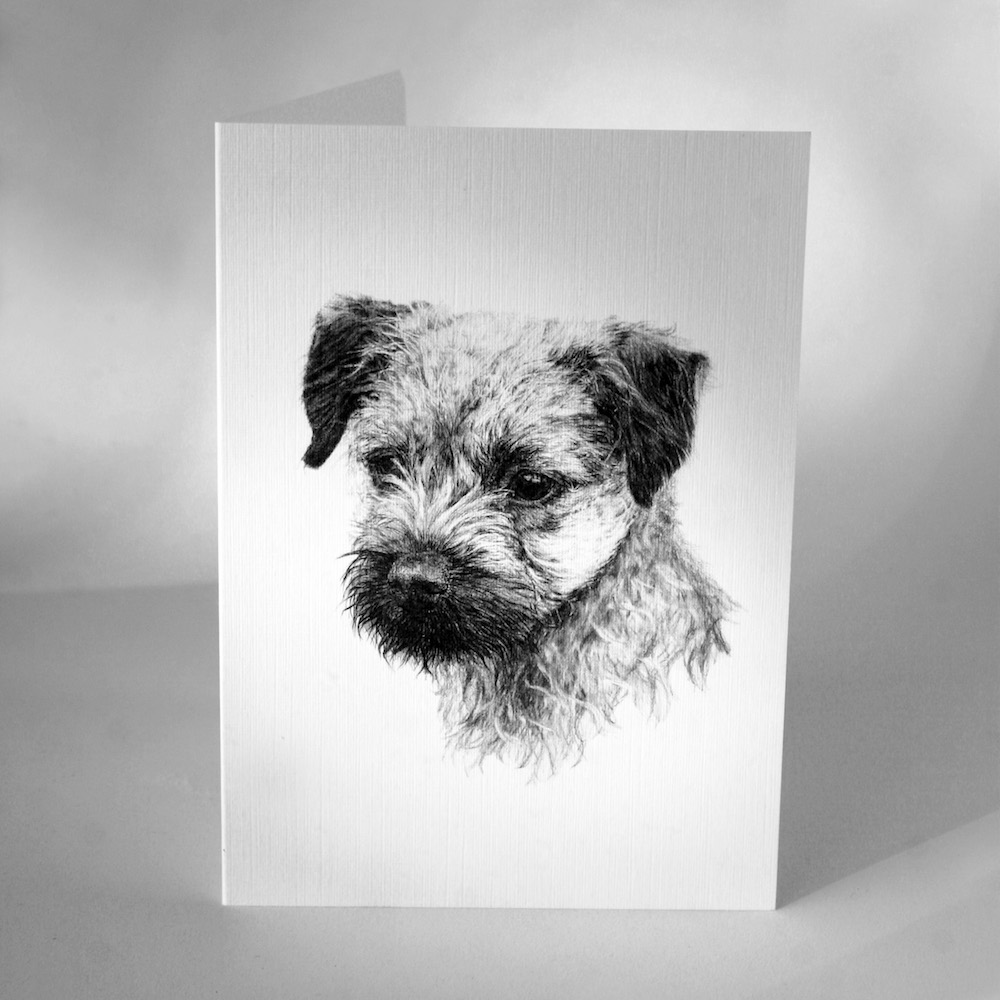Border Terrier Greetings Cards