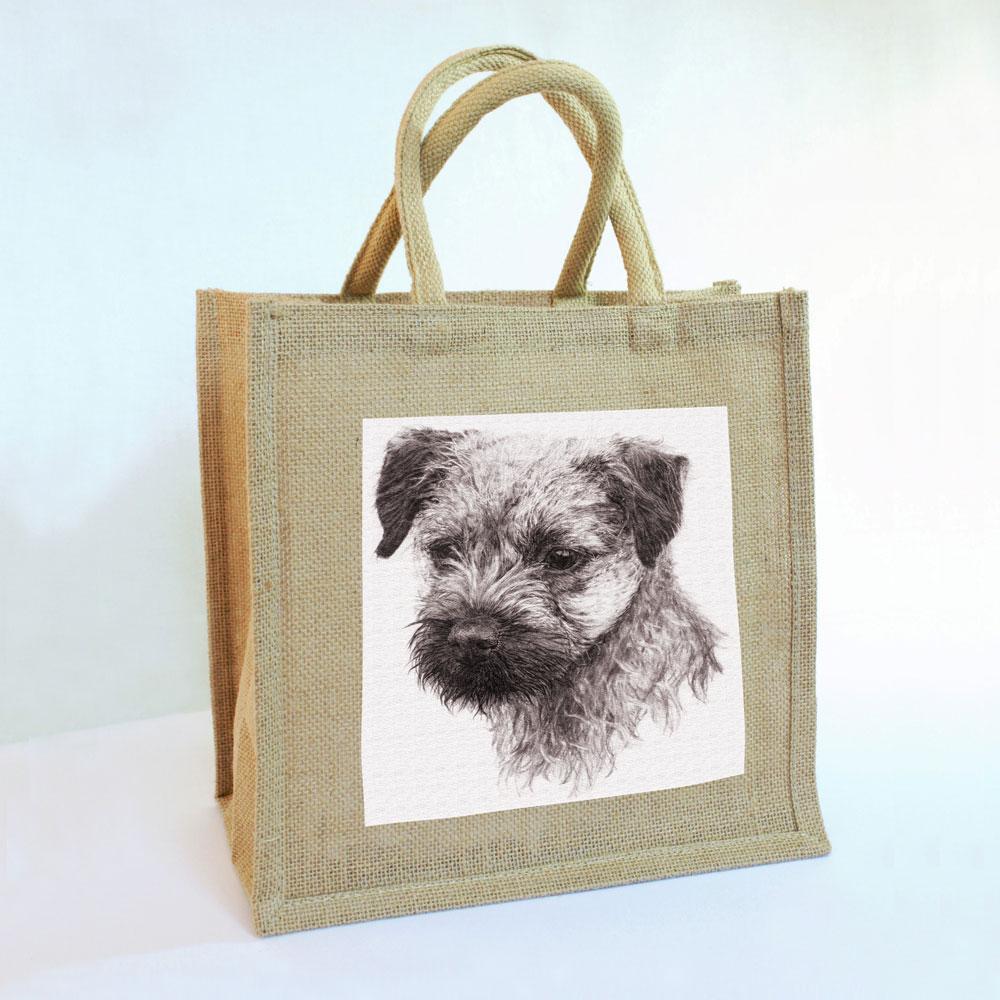Border Terrier Jute Bag