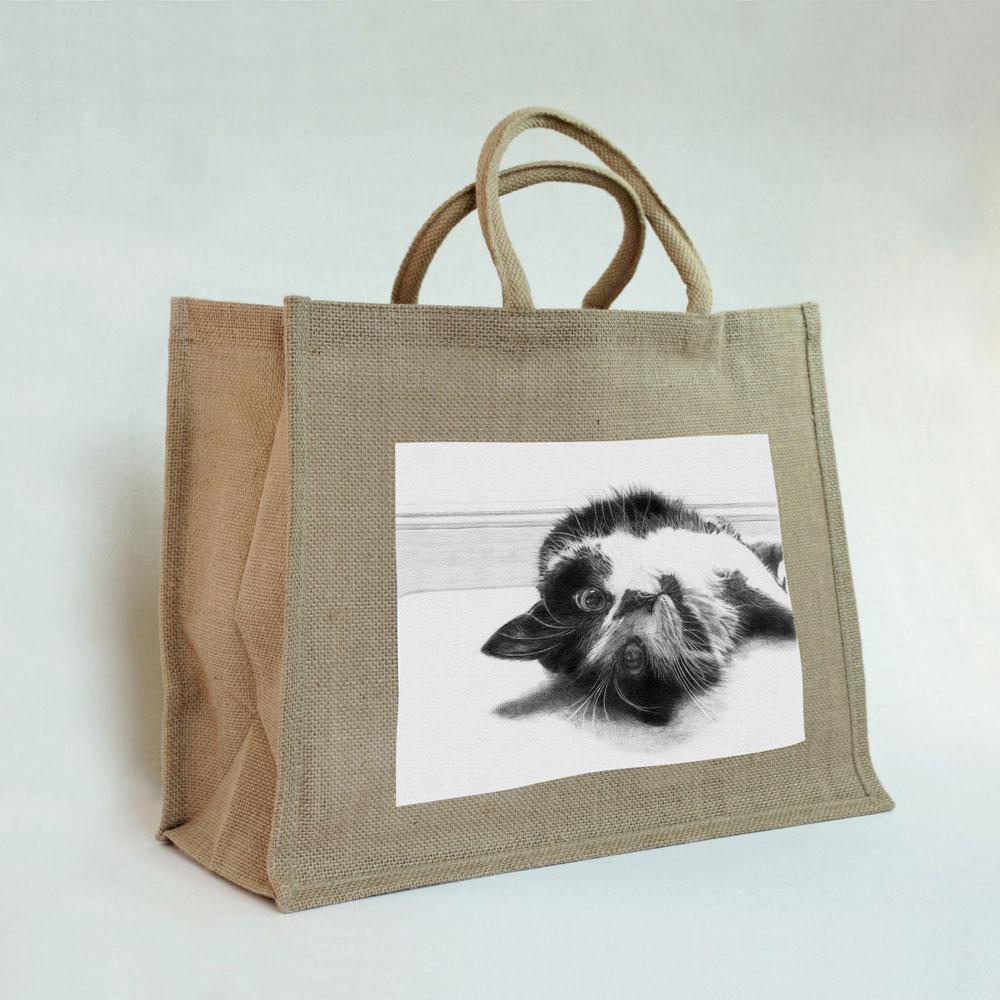 Cat Jute Bag