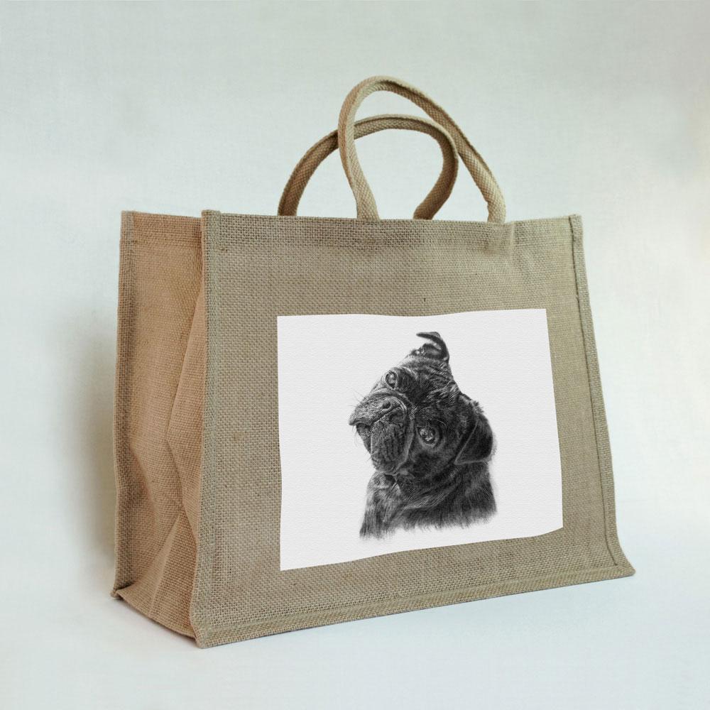 Pug Jute Bag