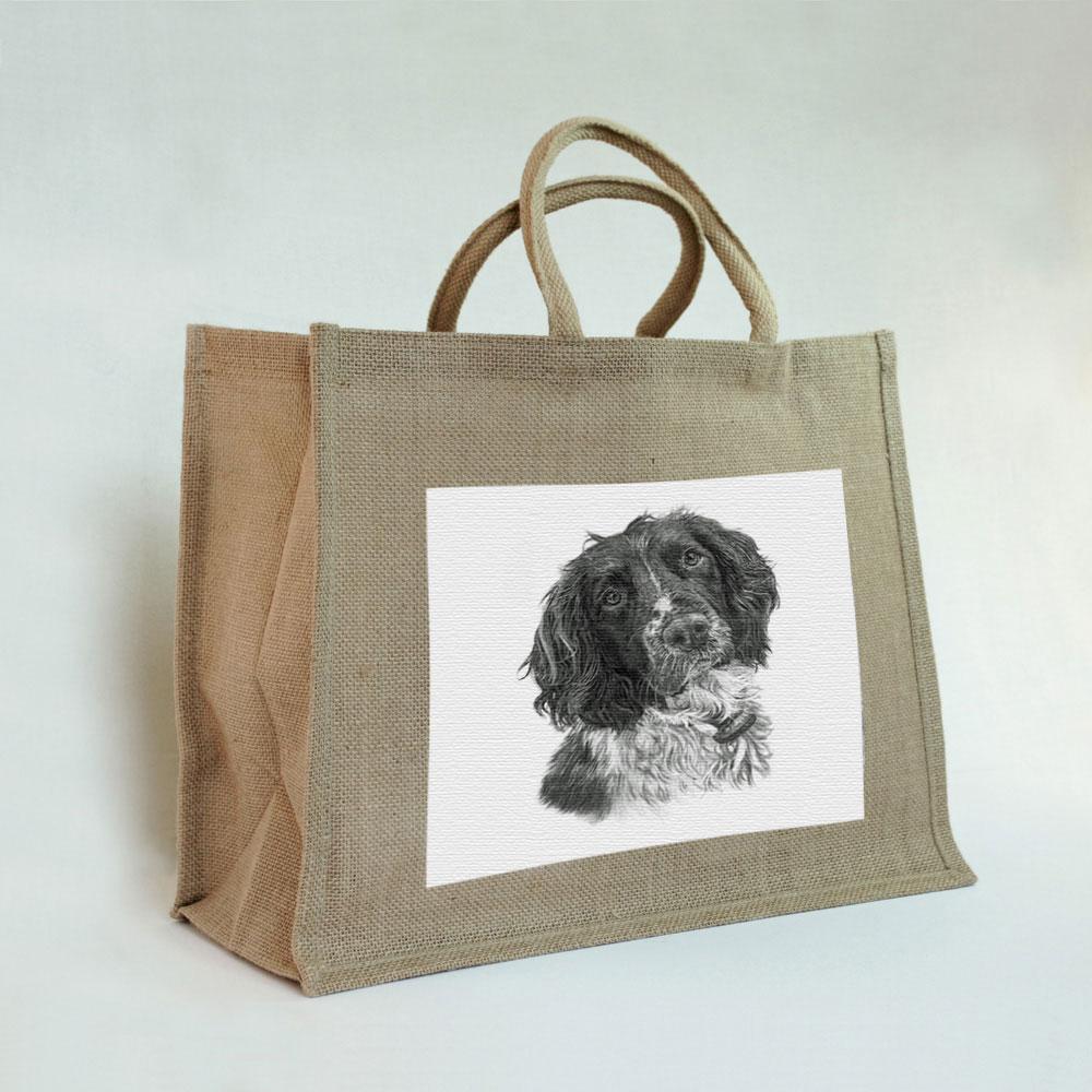 Springer Spaniel Jute Bag