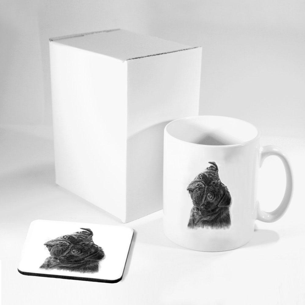 Pug Mug & Coaster