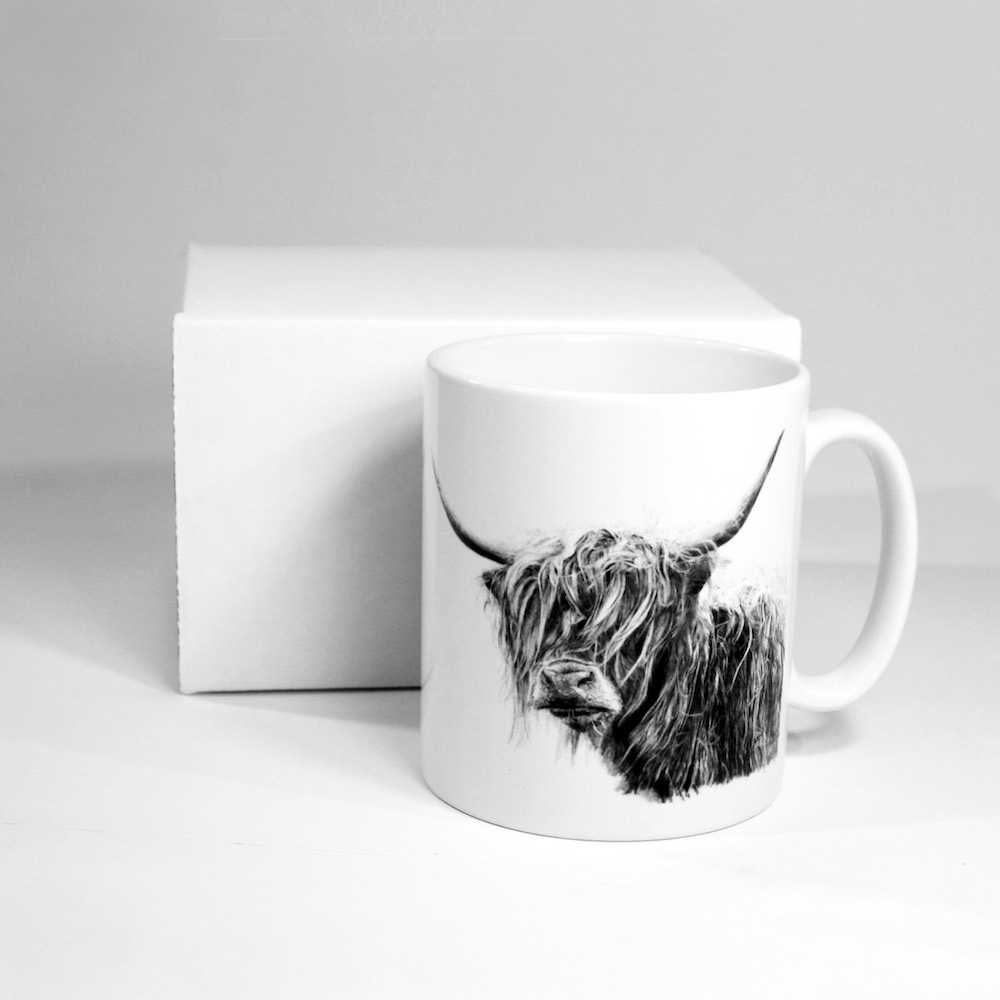 Highland Cow Ceramic Mug