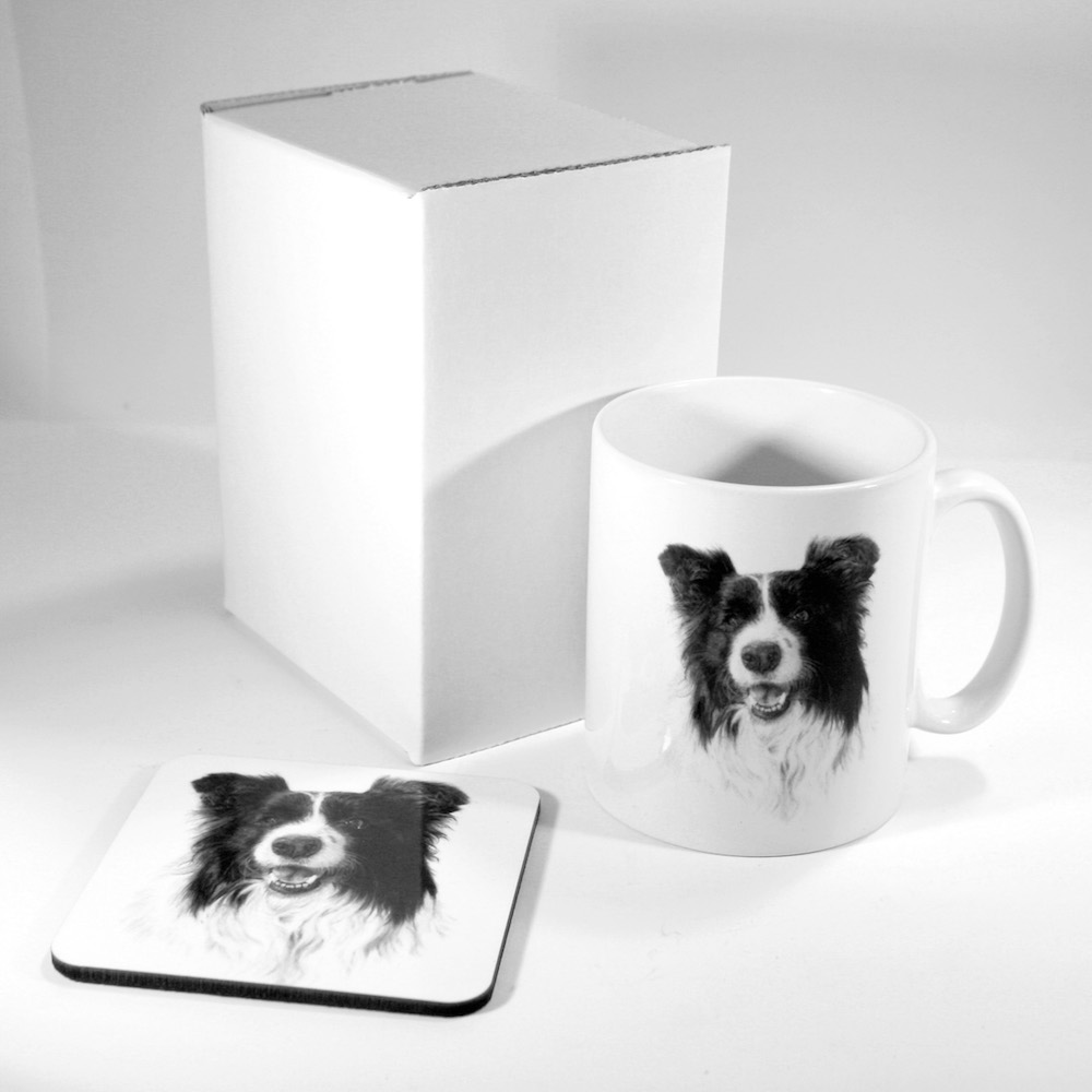 Border Collie Mug & Coaster