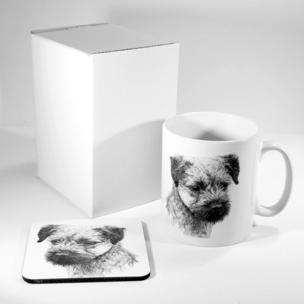 Border Terrier Mug & Coaster