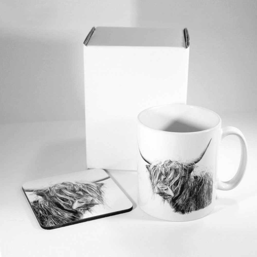 Highland Cow Mug & Coaster