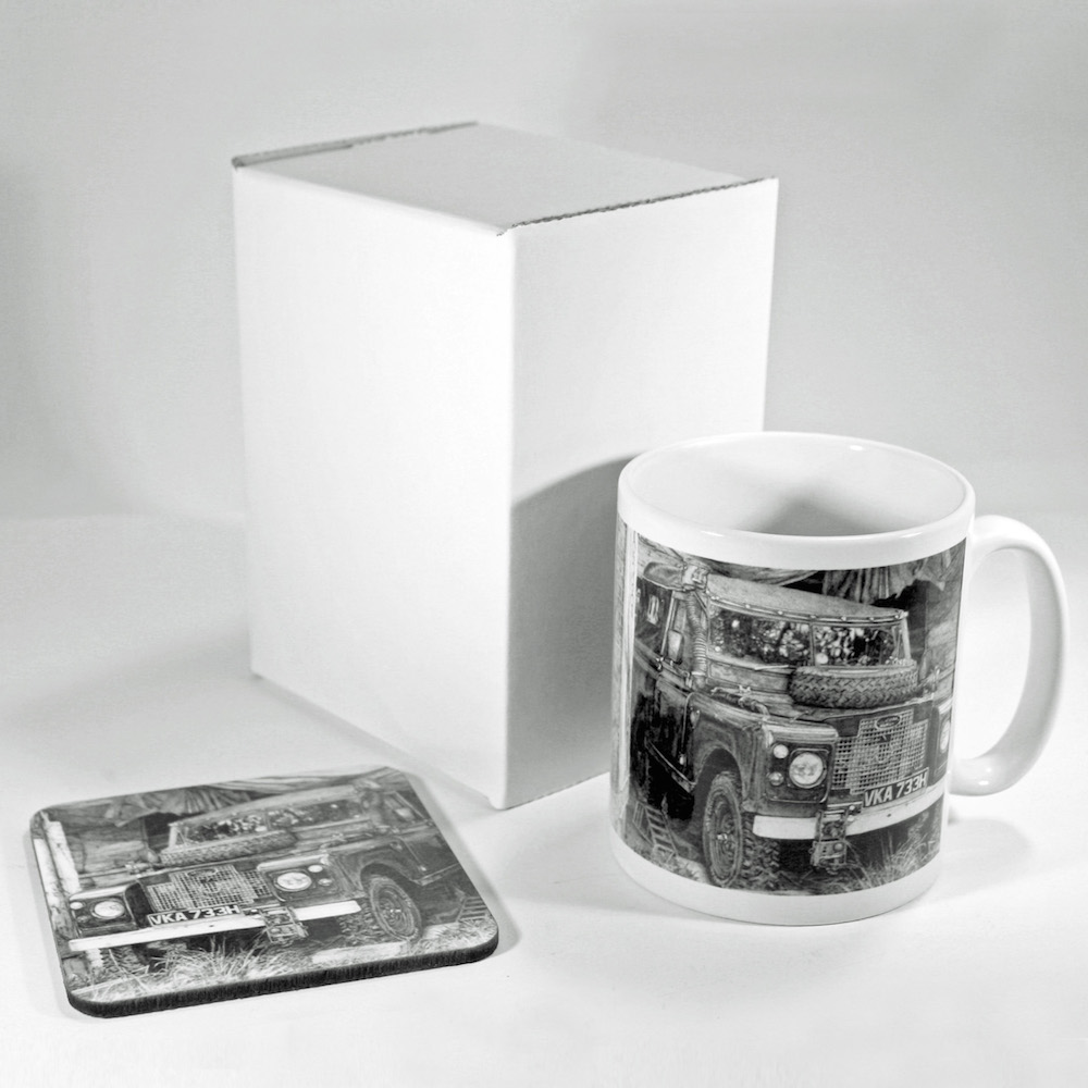 Land Rover Mug & Coaster