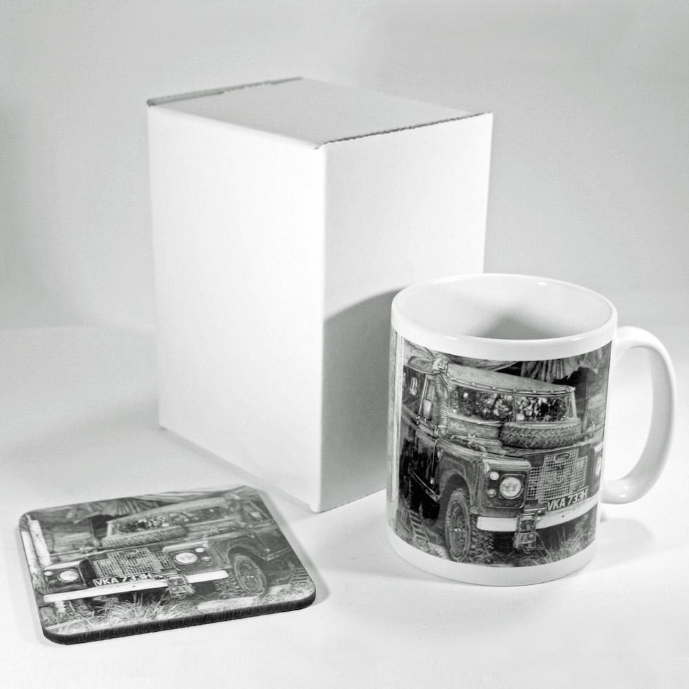 Land Rover Mug & Coaster
