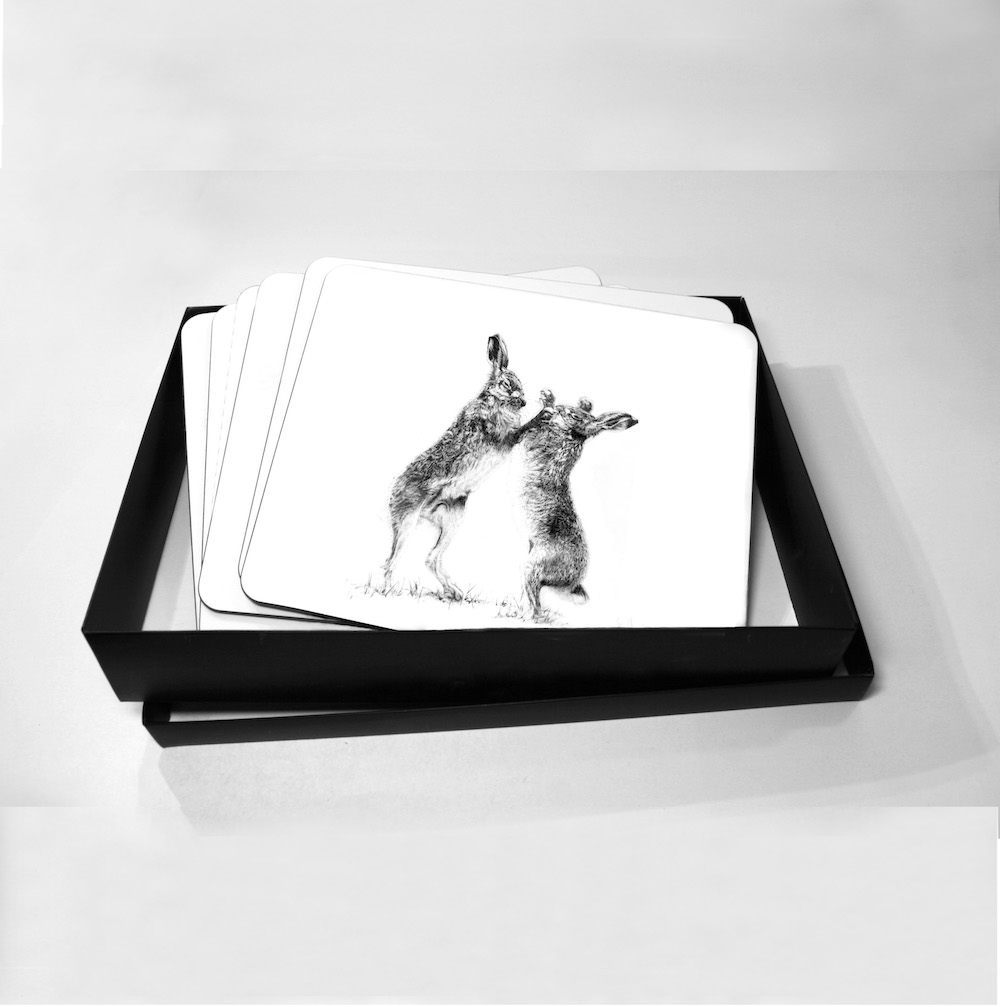 Boxing Hares Placemat