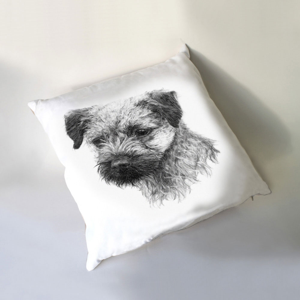 Border Terrier Luxury Cushion