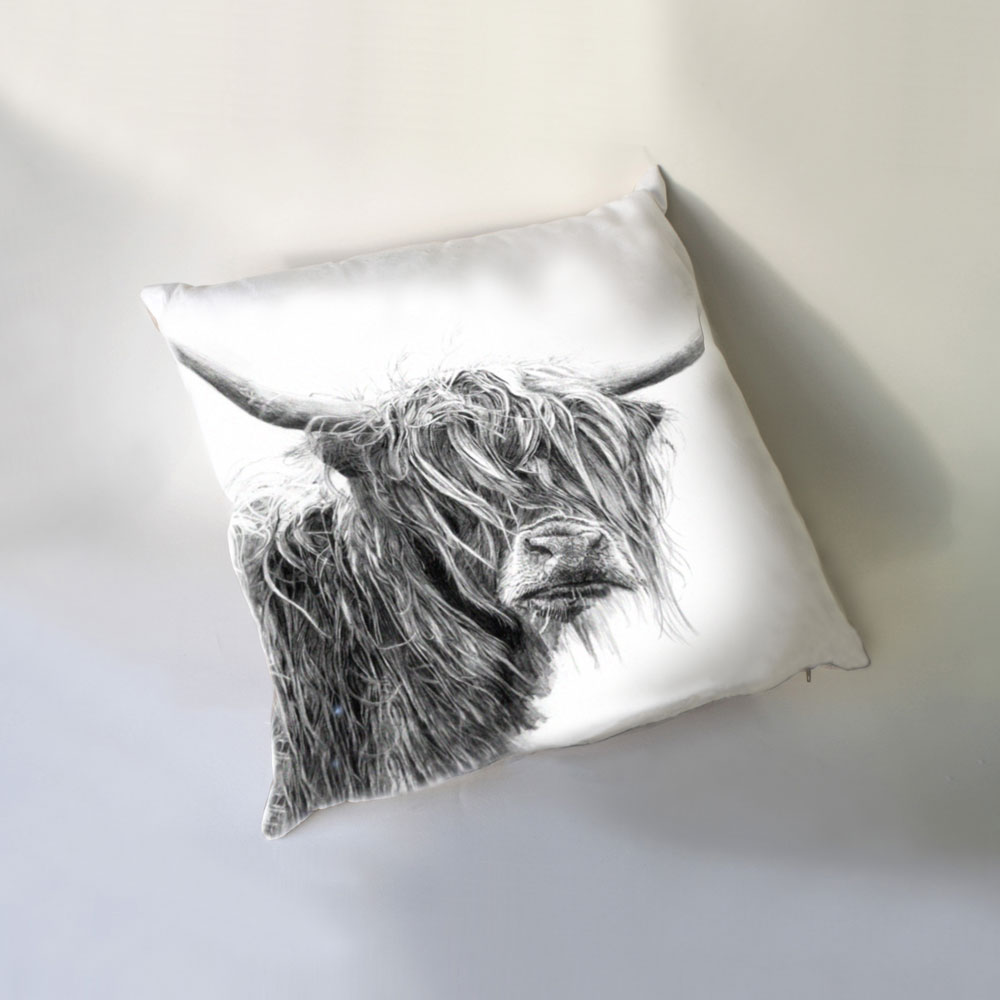 Highland Cow Luxury Cushion